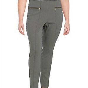 Rafaella jacquard lurex pants